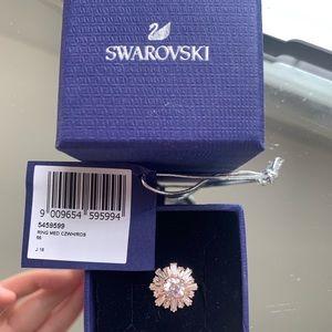 Swarovski Sunshine Ring, White, Rose-Gold Plated